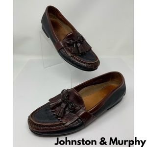 Johnston & Murphy Two Tone Leather Loafers